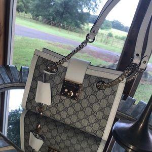 Small padlock GUCCI Supreme Shoulder Bag